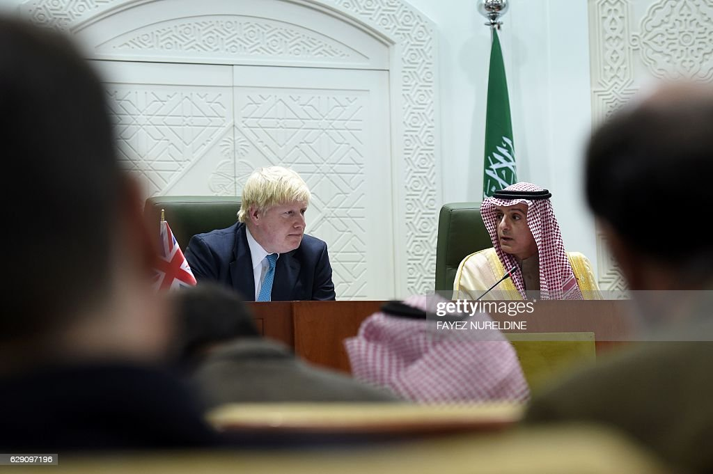 British Foreign Affairs Minister Boris Johnson on official visit to Saudi Arabia
