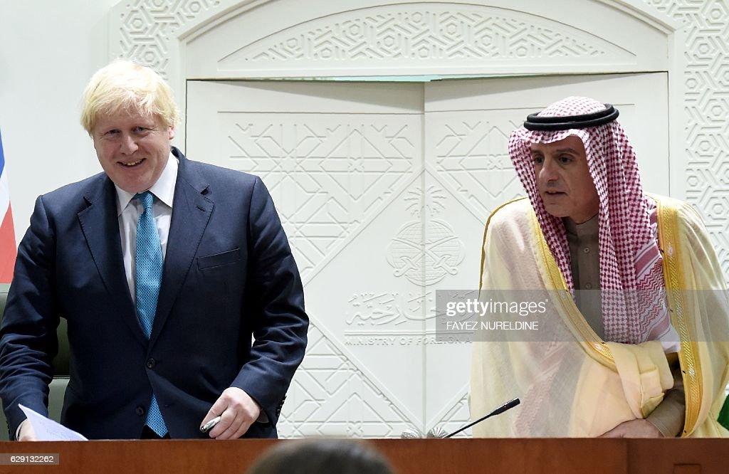 British Foreign Affairs Minister Boris Johnson on official visit to Saudi Arabia