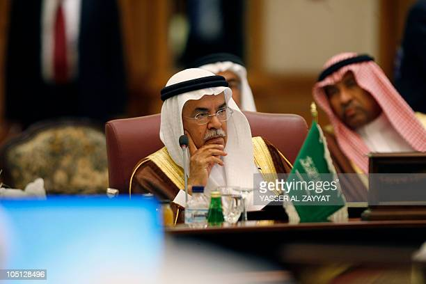 Saudi oil minister Ali alNaeimi listens on during the Gulf Cooperation Council oil ministers meeting in Kuwait City on October 10 2010 AFP...