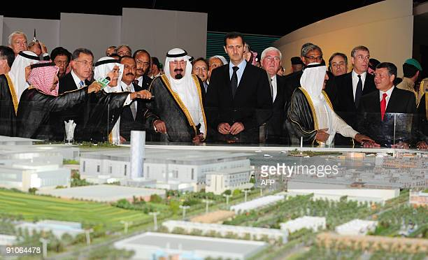 Saudi Oil Minister Ali alNuaimi speaks as Saudi King Abdullah attends the opening ceremony of the King Abdullah University of Science and Technology...