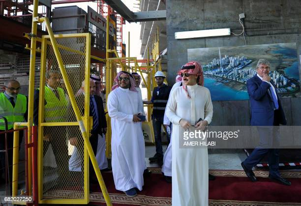 Saudi Prince Alwaleed bin Talal arrives for a press conference on May 11 in the Red Sea city of Jeddah The completion date for the world's tallest...