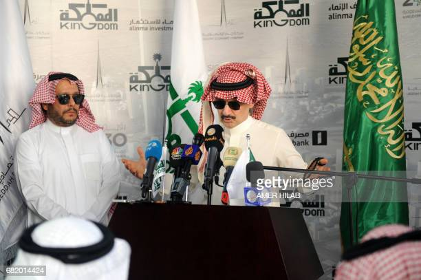 Saudi Prince Alwaleed bin Talal speaks during a press conference on May 11 in the Red Sea city of Jeddah The completion date for the world's tallest...