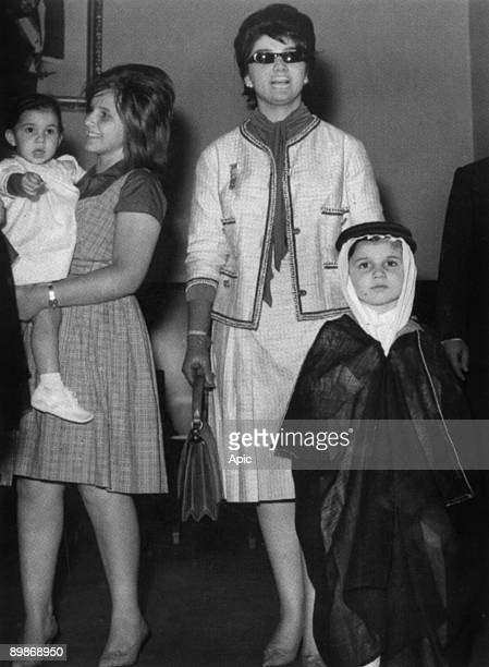 Saudi prince Alwaleed with his mother Muna esSolh and his aunt Lamia Solh carrying Lamia Solh princess Reem c 1962