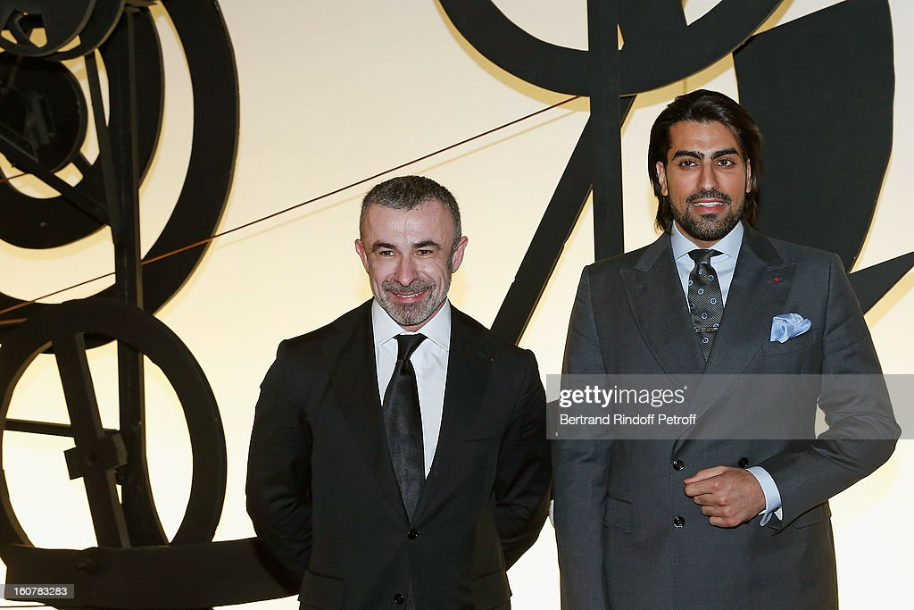 Saudi Prince Salman Bin Abdulaziz Bin Salman Al-Saud (R) and Alain Seban, President of the Centre Pompidou Museum, attend the 8th Annual Dinner of the 'Societe Des Amis Du Musee D'Art Moderne' at Centre Pompidou on February 5, 2013 in Paris, France.