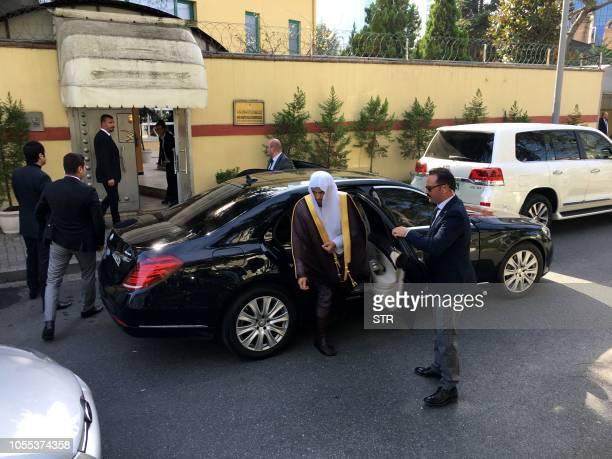 TOPSHOT Saudi public prosecutor Saud Al Mojeb arrives at Saudi Arabia's consulate in Istanbul on October 30 2018 Saudi Arabia's chief prosecutor...