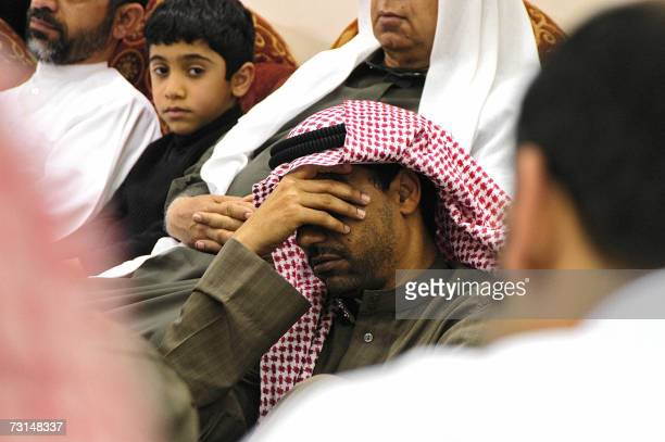 Saudi Shiite Muslims attend a memorial ceremony held at a mosque in the eastern city of Dammam on the eve of the final day of Ashura late 29 January...