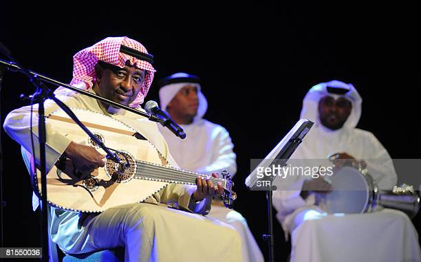 Saudi Singer Abdel Rab Idriss Performs During A Ceremony To Launch His New Album Haza