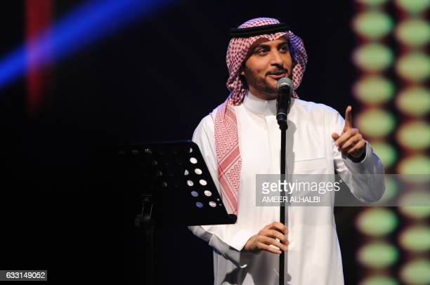 CORRECTION Saudi singer Majid alMuhandis performs during a concert in Jeddah on January 30 2017 Saudi Arabia's 'Paul McCartney' took to the stage as...