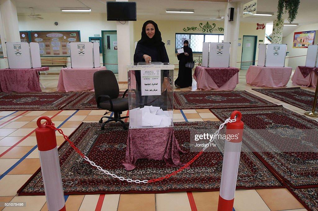 Municipal Elections Are Held Acoss The Kingdom Of Saudi Arabia : News Photo