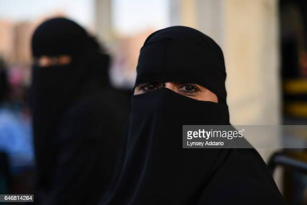 Saudi women sell homemade food in the Taiba Market on the streets of Riyadh March 14 2015