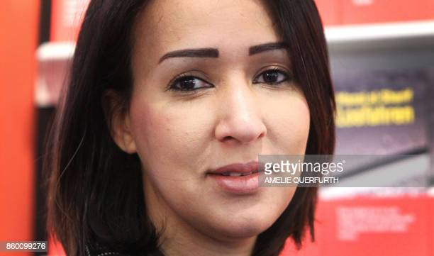 Saudi women's rights activist and author Manal alSharif poses for a picture at the Frankfurt Book Fair 2017 in Frankfurt am Main central Germany on...
