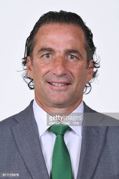 Saudia Arabia coach Juan Antonio Pizzi poses during the official FIFA World Cup 2018 portrait session at on June 10 2018 in Saint Petersburg Russia