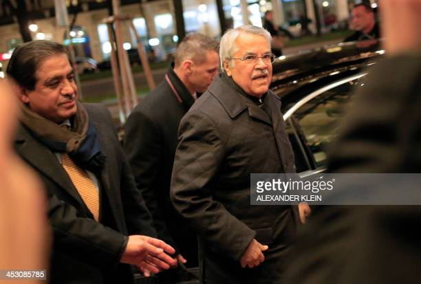 Saudia Arabia's Minister of Petroleum and Mineral ressources Ali aINaimi arrives at the Grand Hotel in Vienna on December 2 2013 prior to the start...