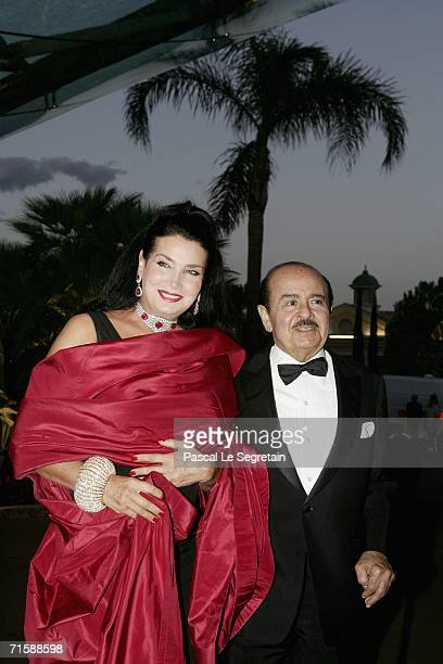 Saudiborn businessman Lamia Khashoggi and his wife Shahpari arrive at the Monaco Red Cross Ball under the Presidency of HSH Prince Albert II in the...