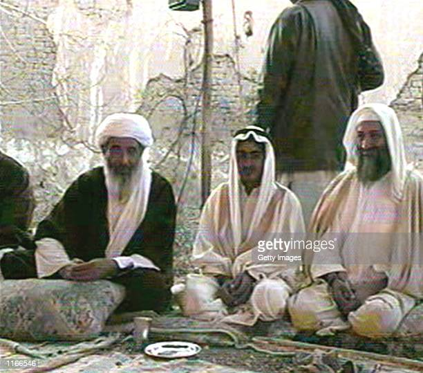 Saudiborn terrorist suspect Osama bin Laden is seen in this photo by AlJazeera TV at the wedding of his son Mohammed bin Laden January 9 2001 in...