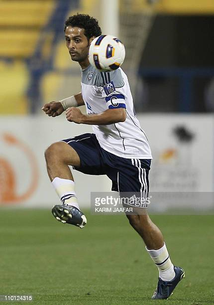 Saudi's alHilal player Yasser alQahtani attends match against alGharrafa during their AFC Champions League soccer match in Doha on March 15 2011...