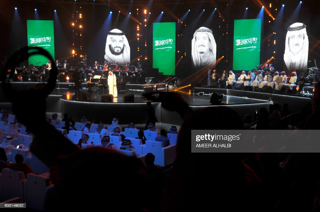 CORRECTION-Saudi-music-SAUDI-ENTERTAINMENT-MUSIC-CONCERT : News Photo