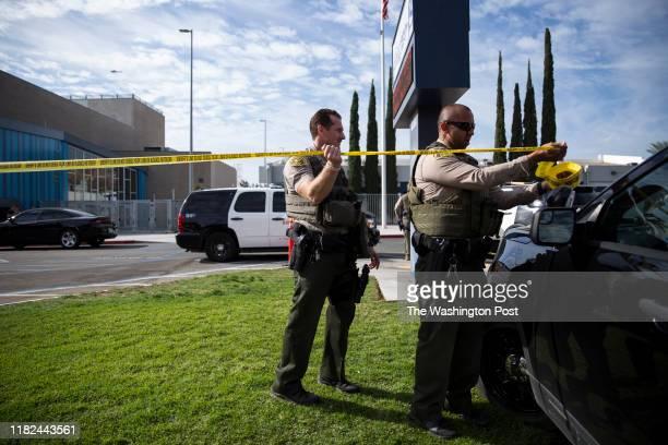 Saugus High School following a school shooting in Santa Clarita CA on Thursday Nov 14 2019