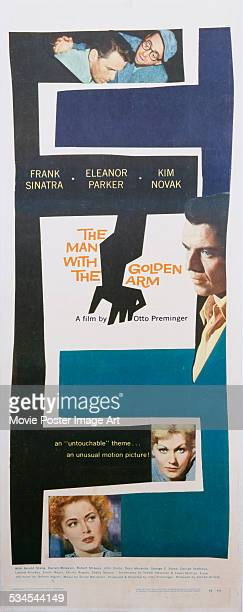 A Saul Bass designed poster for Otto Preminger's 1955 drama 'The Man with the Golden Arm' starring Frank Sinatra Kim Novak and Eleanor Parker