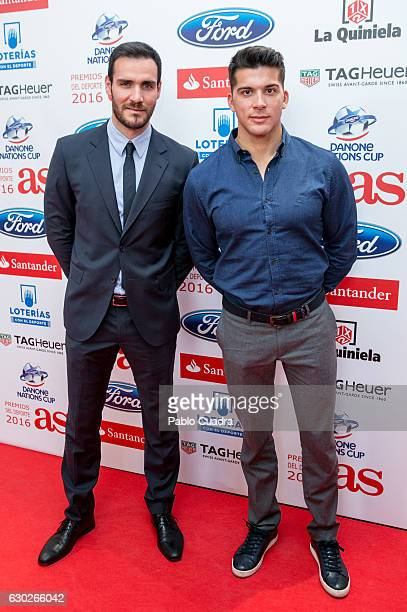 Saul Craviotto and Cristian Toro attend the 'AS Del Deporte' awards 2016 gala at Westing Palace Hotel on December 19 2016 in Madrid Spain