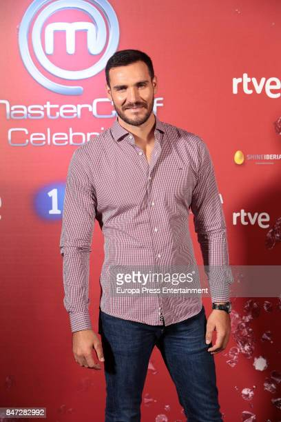 Saul Craviotto attends 'MasterChef Celebrity' 2 presentation on September 14 2017 in Madrid Spain