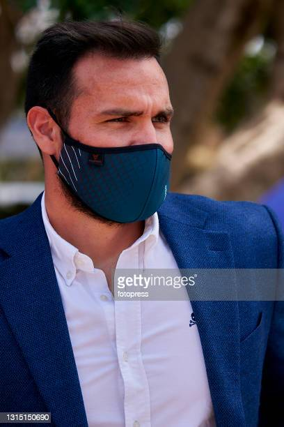 Saul Craviotto attends to the ATP Barcelona Open Banc Sabadell 2021 at Real Club De Tenis Barcelona on April 25, 2021 in Barcelona, Spain.