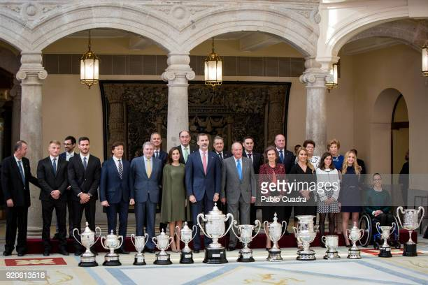 Saul Craviotto Marcus Cooper Walz Inigo Mendez de Vigo Queen Letizia of Spain King Felipe VI of Spain King Juan Carlos Queen Sofia Lidia Valentin and...
