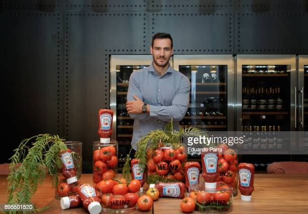 Saul Craviotto presents the 'Ketchup Heinz 50/50' at The Art of Living store on December 19 2017 in Madrid Spain