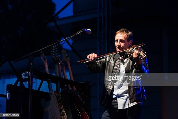Saul Davies of James performs on stage during Magners Summer Nights at Princes Street Gardens on August 26 2015 in Edinburgh Scotland