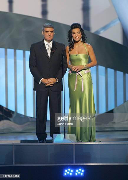 Saul Lisazo and Monica Noguera during 2005 Billboard Latin Music Awards Show at Miami Arena in Miami Florida United States