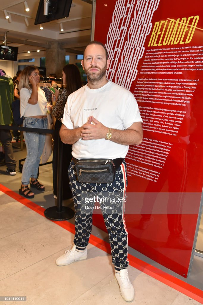 Saul Milton attends the launch of 'Super Sharp Reloaded', a new installation and pop-up shop by Saul Milton and Tory Turk, presented by Selfridges and Reebok at Selfridges on August 9, 2018 in London, England.