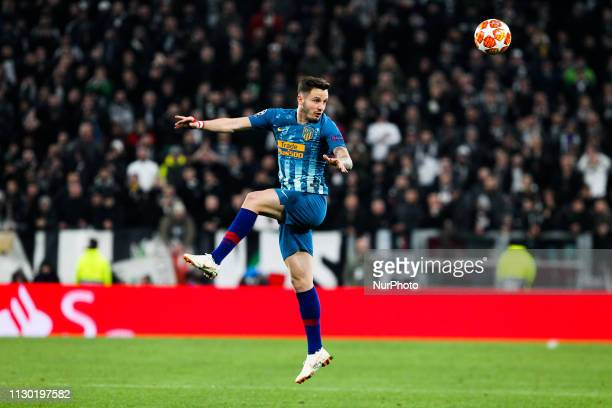 Saul Niguez during the UEFA Champions League round of 16 second leg match between Club Atletico de Madrid and Juventus FC at Allianz Stadium on March...