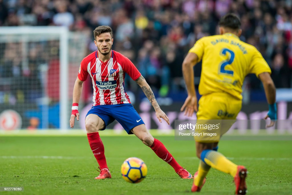Saul Niguez Esclapez of Atletico de Madrid during the La Liga 2017-18 match between Atletico de Madrid and UD Las Palmas at Wanda Metropolitano on January 28 2018 in Madrid, Spain.