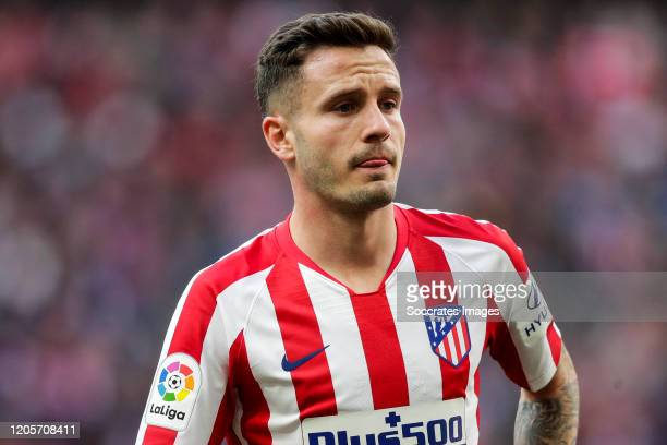 Saul Niguez of Atletico Madrid during the La Liga Santander match between Atletico Madrid v Sevilla at the Estadio Wanda Metropolitano on March 7,...