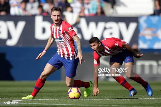 Saul Niguez of Atletico Madrid during the La Liga Santander match between Leganes v Atletico Madrid at the Estadio Municipal de Butarque on November...