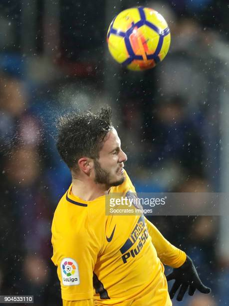 Saul Niguez of Atletico Madrid during the La Liga Santander match between Eibar v Atletico Madrid at the Estadio Municipal de Ipurua on January 13...