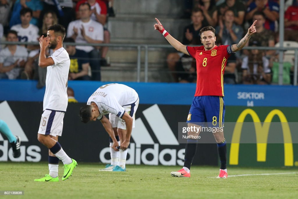 Spain v Italy: Semi Final - 2017 UEFA European Under-21 Championship : News Photo