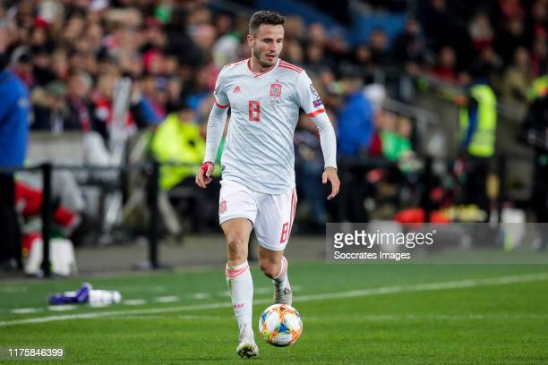 Saul Niguez of Spain during the EURO Qualifier match between Norway v Spain at the Ullevaal Stadion on October 12, 2019 in Oslo Norway