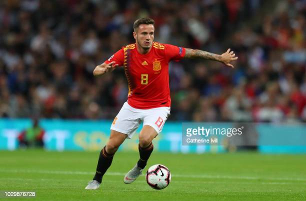 Saul Niguez of Spain during the UEFA Nations League A group four match between England and Spain at Wembley Stadium on September 8 2018 in London...