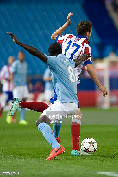 Saul Niguez player del Atletico in action Atletico Madrid vs Malmoe during their UEFA Champions League Group A match played at Vicente Calderon...
