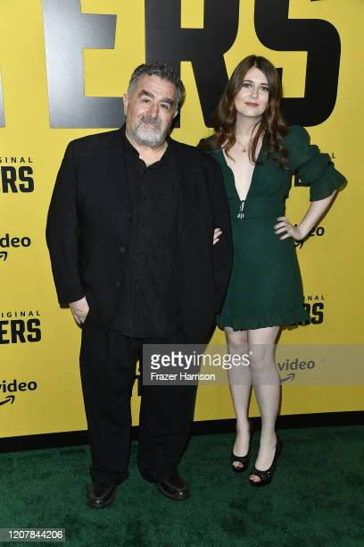 """Saul Rubinek and daughter Hannah Reid Rubinek attend the Premiere Of Amazon Prime Video's """"Hunters"""" at DGA Theater on February 19, 2020 in Los..."""