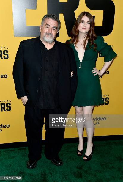 """Saul Rubinek and Hannah Reid Rubinek attend the premiere of Amazon Prime Video's """"Hunters"""" at DGA Theater on February 19, 2020 in Los Angeles,..."""