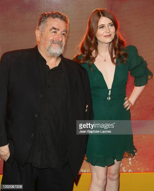 """Saul Rubinek and his daughter Hannah Reid Rubinek attend the premiere of Amazon Prime Video's """"Hunters"""" at DGA Theater on February 19, 2020 in Los..."""