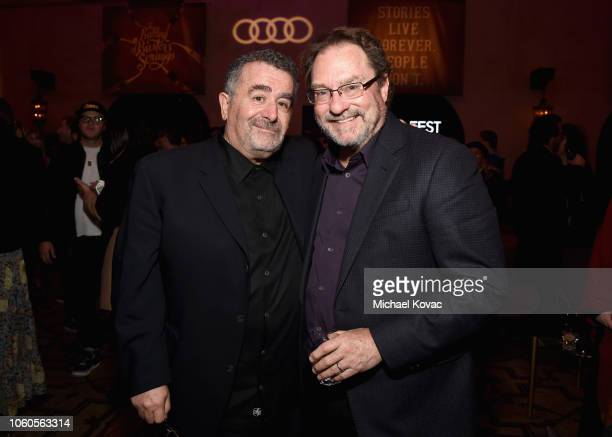 """Saul Rubinek and Stephen Root attend the after party for the Gala Screening of """"The Ballad Of Buster Scruggs"""" at Roosevelt Ballroom on November 11,..."""