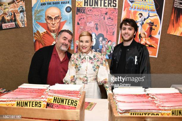 Saul Rubinek, Kate Mulvany and David Weil at Amazon Prime Video's Hunters Grindhouse Experience VIP Preview on February 18, 2020 in Los Angeles,...