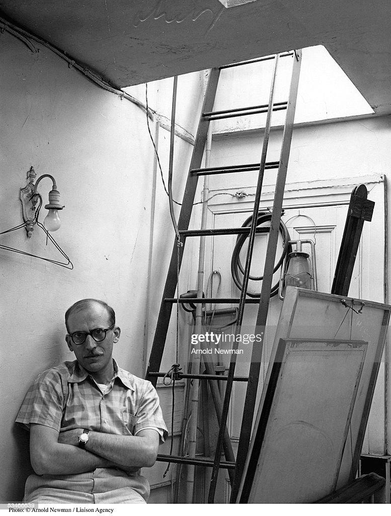 Portrait of Cartoonist Saul Steinberg : News Photo