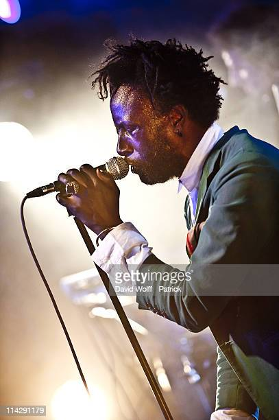 Saul Williams performs at Le Nouveau Casino on May 17, 2011 in Paris, France.