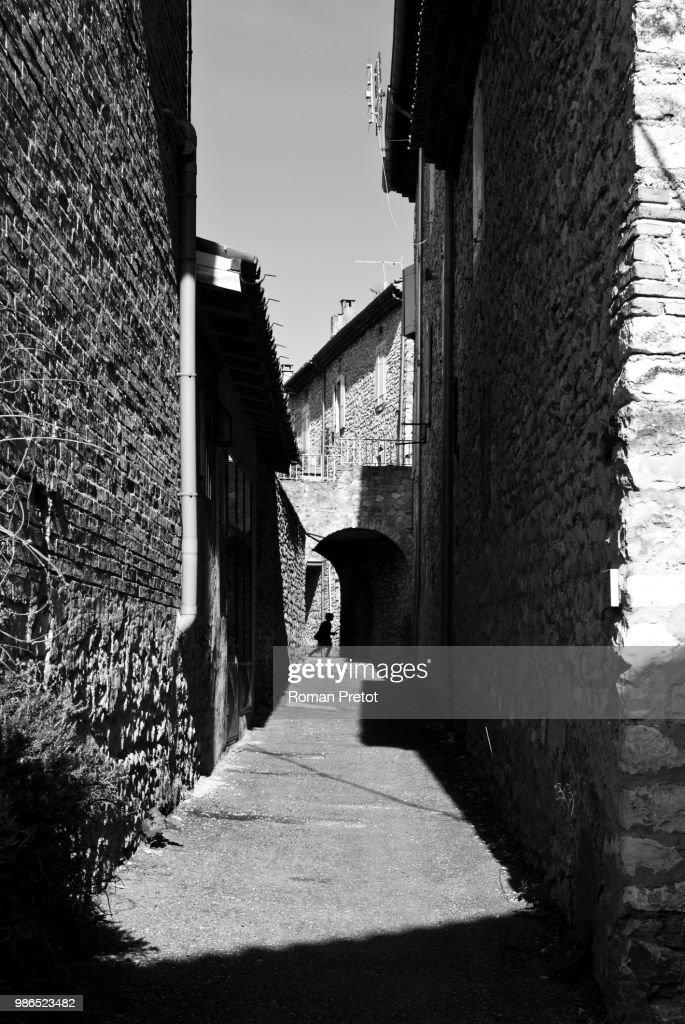 Saulce-sur-Rhône,France : Foto de stock