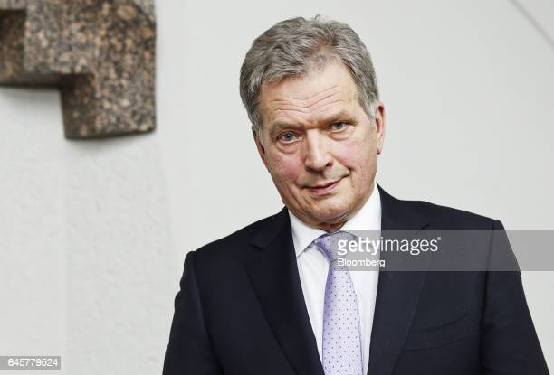 Sauli Niinisto Finland's president poses for a photograph following an interview at his seaside residence in Helsinki Finland on Friday Feb 24 2017...