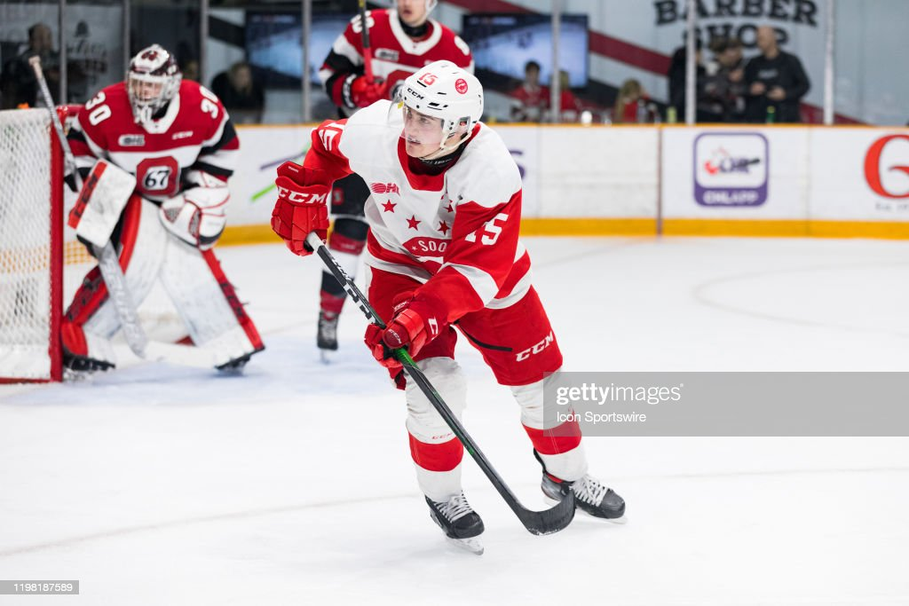 OHL: FEB 02 Sault Ste. Marie Greyhounds at Ottawa 67's : News Photo